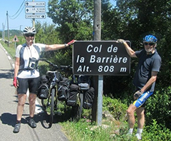 Sue and husband at Col de la Barriere