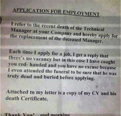 Application letter for the post of human resource manager